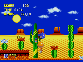 Screenshot Thumbnail / Media File 1 for Sonic the Hedgehog 2 (World) (Rev A) [Hack by Esrael v01.0a] (~Sonic 2 Delta II)